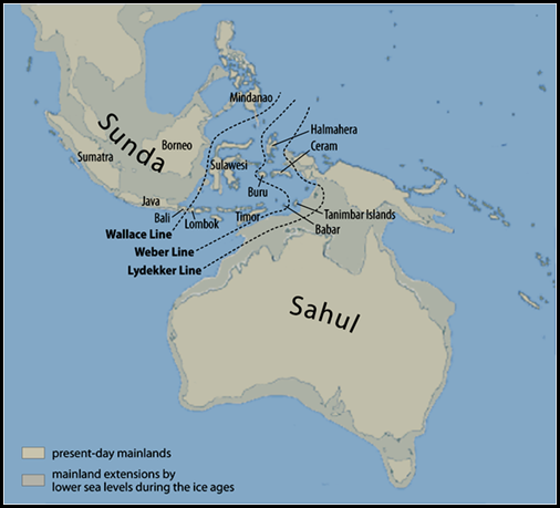 Sahul Shelf Map