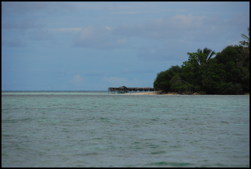 Approaching Mapia Atoll - first views