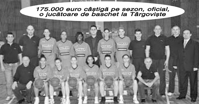 175.000 euro câstigã pe sezon, oficial, o jucãtoare de baschet la Târgoviste
