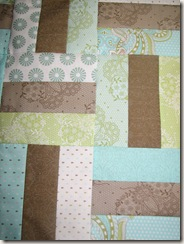 Pram Quilt Top close up
