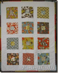 E Cot Quilt finished front