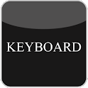 Black & White Glass Keyboard icon