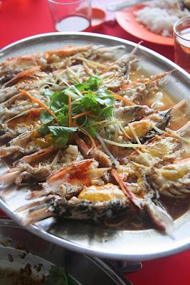 清蒸大头虾(虾头)
