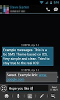 Screenshot of GO SMS THEME - Smooth ICS Blue