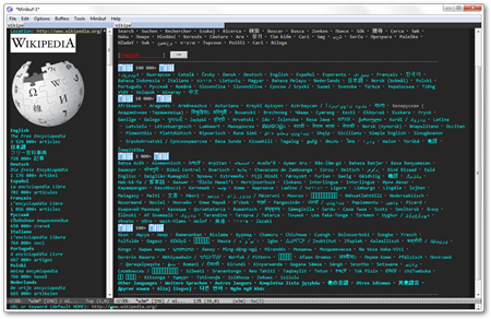 Emacs 23.2.92   emacs-w3m Wikipedia
