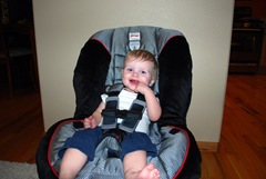 Parker's big boy car seat 2009-09-06 005