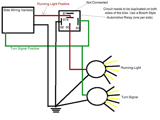 Wiring Diagram For Motorcycle Running Lights The Wiring Diagram