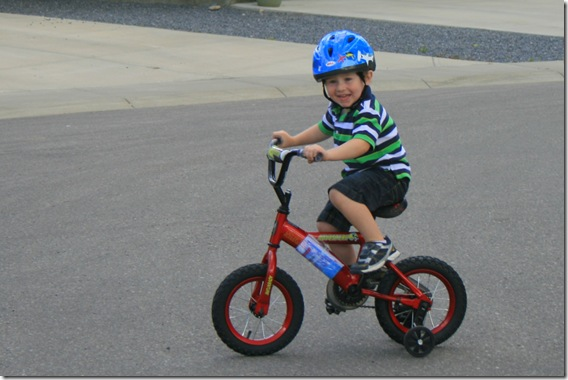Andrews first bike ride