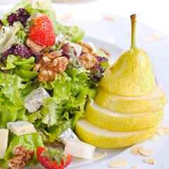 Pear and salad