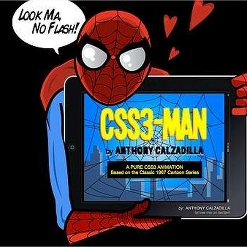Intro de Spiderman hecho con HTML5 y CSS3