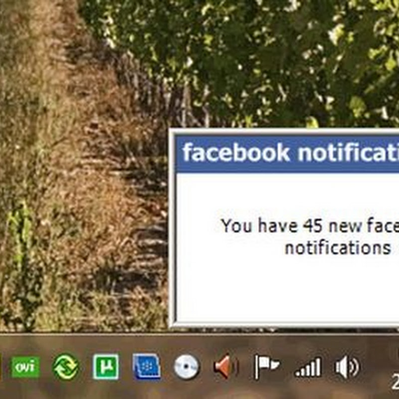 Recibe notificaciones de Facebook en tu escritorio
