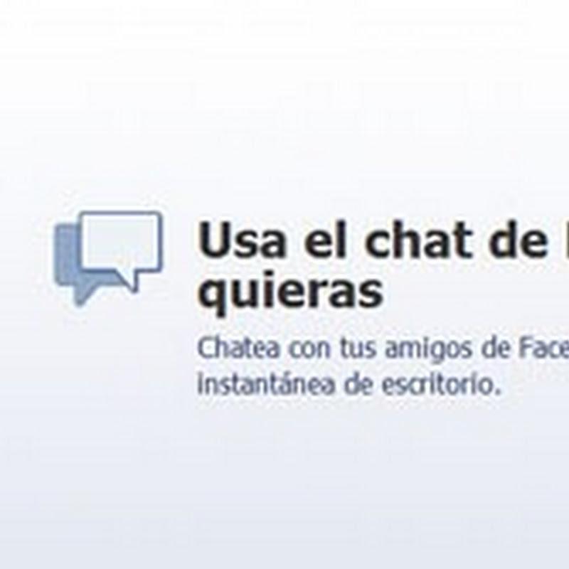 Usa el chat de Facebook fuera de Facebook