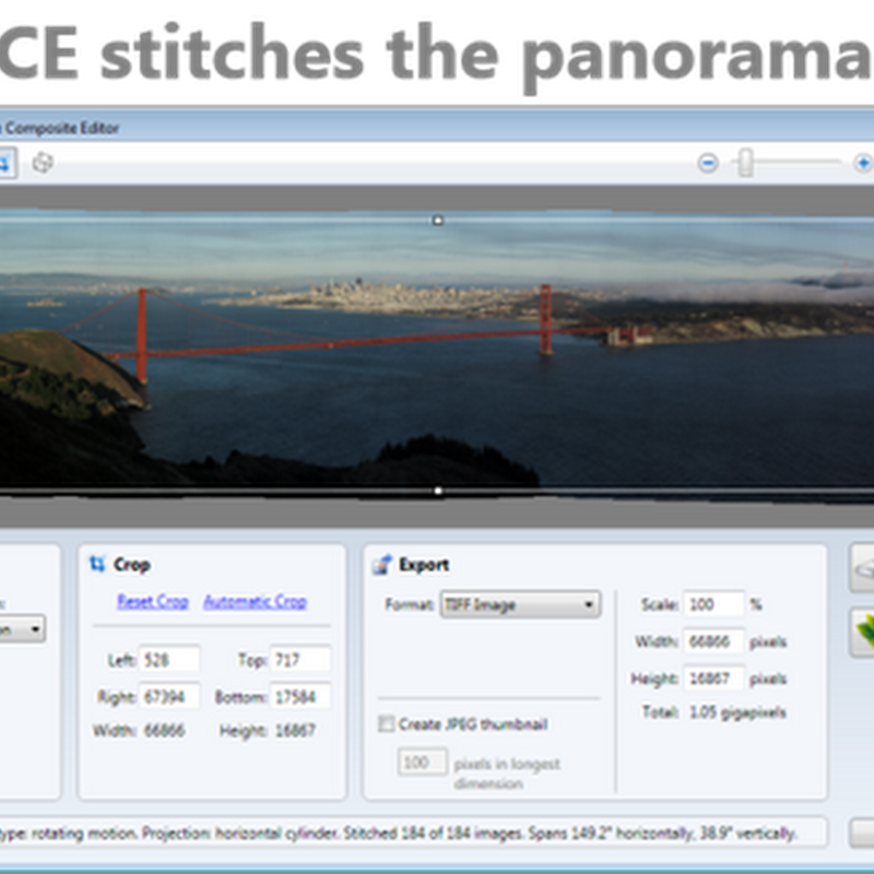 Crea fotos panorámicas con Image Composite Editor