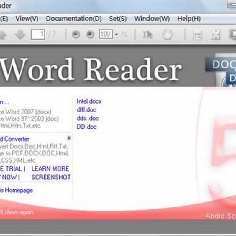 Visualiza tus documentos de Word con Word Reader