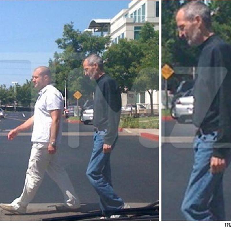 Aparece Steve Jobs caminando