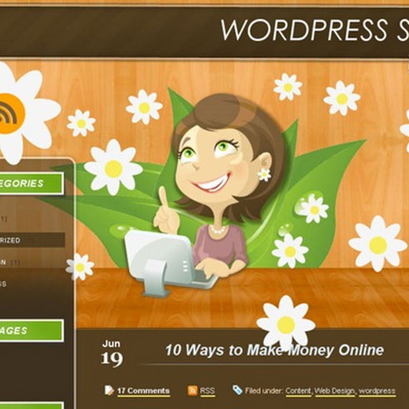 Plantillas para Blogger y Wordpress de flores