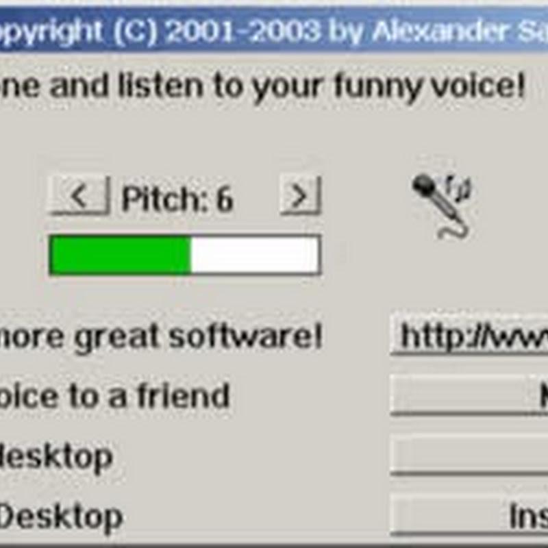 Cambia tu voz con Funny Voice