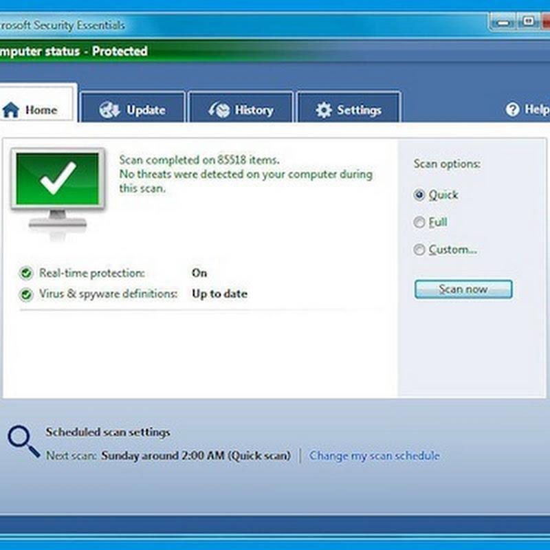 Microsoft Security Essentials, el antivirus de Microsoft