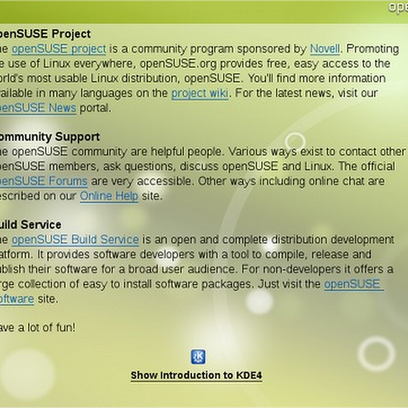 Disponible openSUSE 11.2
