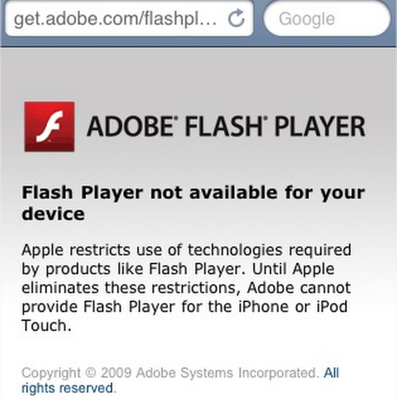 Adobe culpa a Apple por Flash Player