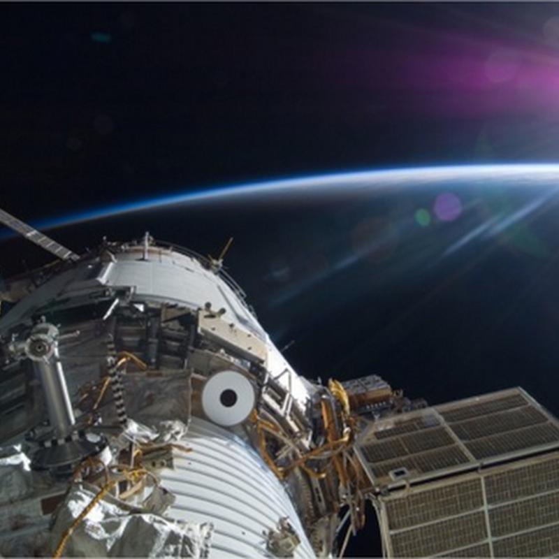 El Sol, la Tierra y la Estación Espacial Internacional