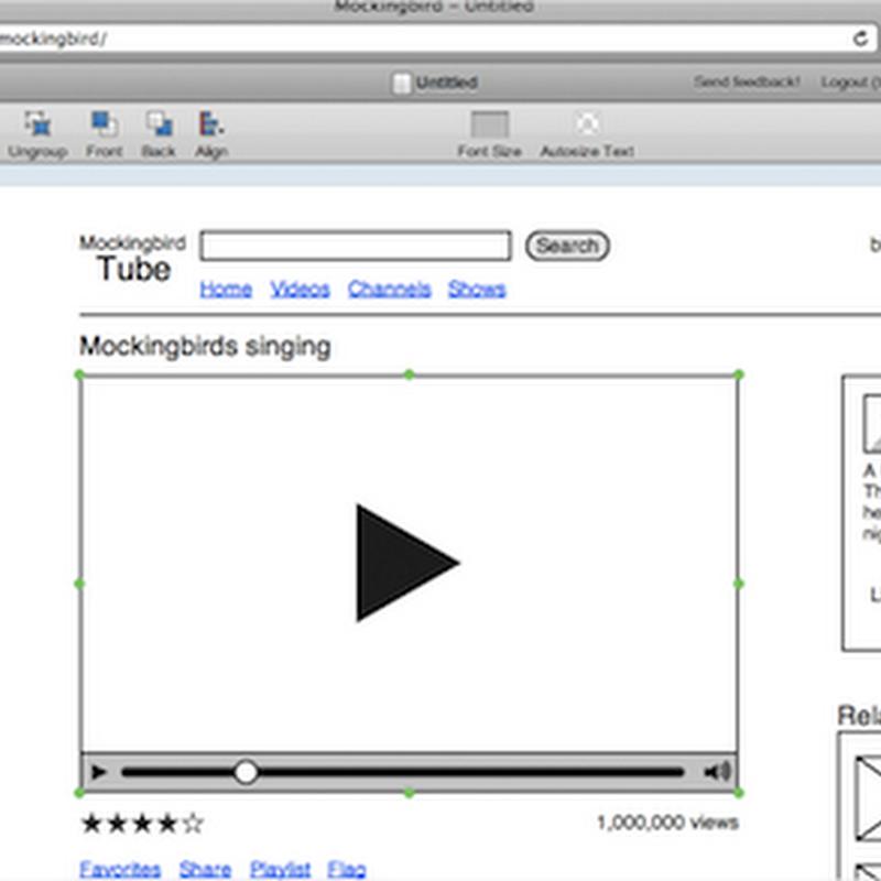 Crea bosquejos web con Gomockingbird