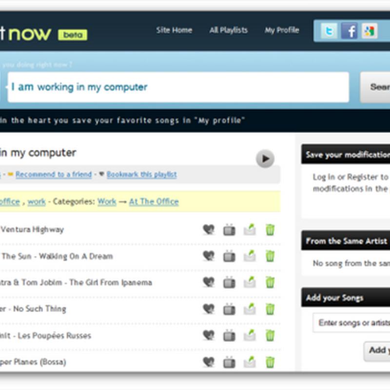 PlaylistNow, la música adecuada para cada momento