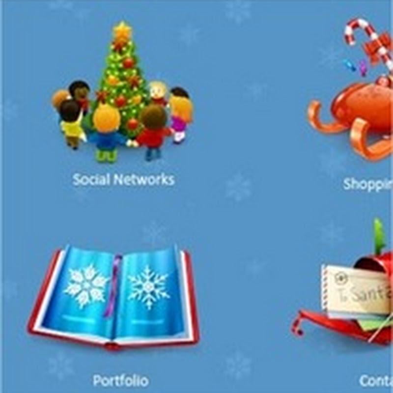 20 paquetes de iconos navideños para descargar