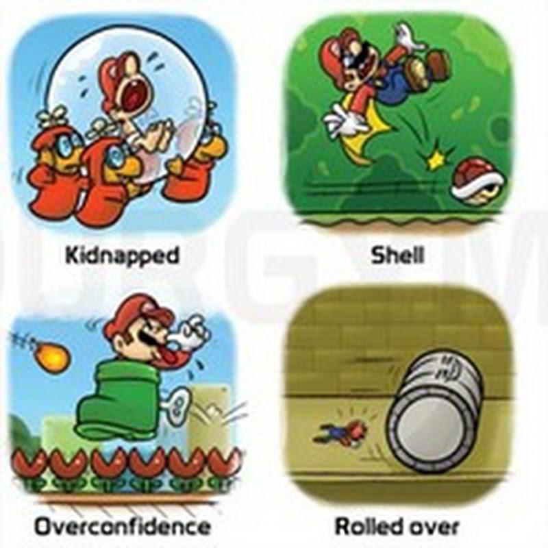 45 formas en las que Mario Bros puede morir