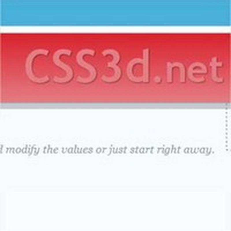 CSS3d, para crear cintas 3D con CSS