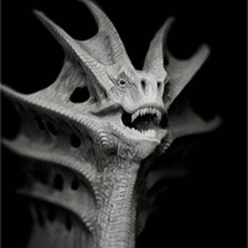 13 increíbles diseños de dragones en blanco y negro