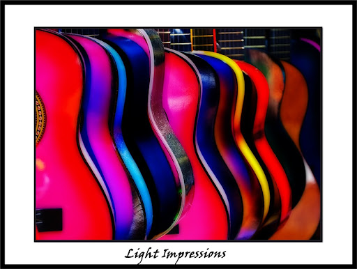 Olvera Street Colorful Guitars