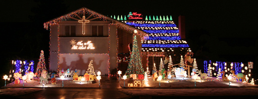 imagine a christmas light display with over 35000 lights all controlled by computer more than half blink in sync to music and its not only one