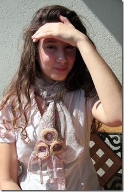 sciarpa seta rosa