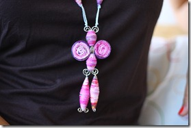 collana di stoffa fucsia-1
