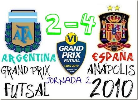 argentina 2-4 españa