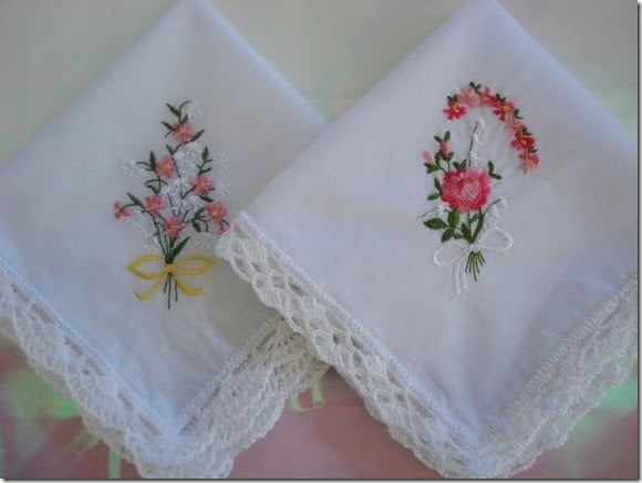 hankies with crochet lace