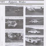 Six Appeal 1986 article on Works cars out and about long after the Works ceased to be. Andy Thompson has confirmed that this rally was covered by him as a roving 17 year old, on his push bike. These photos courtesy of that intrepid cyclist.