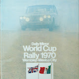 World Cup Rally Official Regulations - featuring works Triumph Mk1 UJB643G. Picture courtesy of Dave Hiscocks