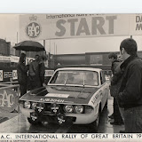 XJB304H at the start of the 1970 RAC Rally. Brian competed in XJB304H and had XJB302H as the service car. He had bought the rolled 304, the spare works shell and 302 from Abingdon with some spares for the princely sum of £650 only a few months before, transferring the mechanicals from the wreck into the new shell. Contrary to popular befeif he did not swap the engines, he's very clear on this. Picture courtesy Brian Englefield