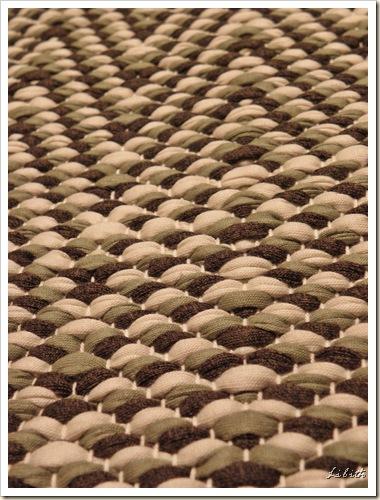 Mönstrad matta närbild