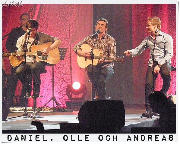 Daniel, Olle och Andreas