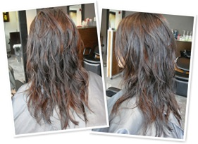 View Short wispy layers with long fringe combo