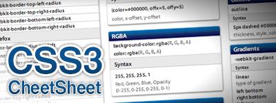 CSS3 Cheet Sheet
