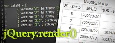 jQuery.render()