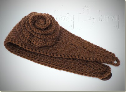 Crochet Flower Ear Warmer Tutorial : Fabric Bows and More: Knit Ear Warmer with Crochet Flower ...