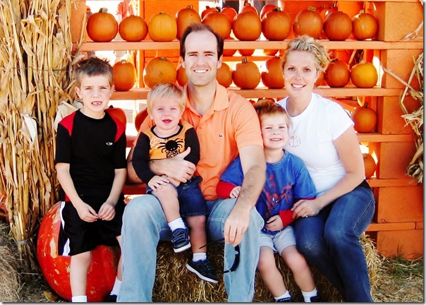 family pumpkin patch