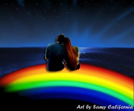 arcobaleno sull oceano