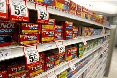 Boxes of tylenol.