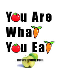 Illustration text : You Are What You Eat